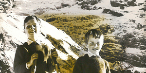 Robert & Paul Skiing