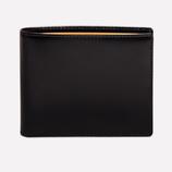 Ettinger London Luxury Leather Black London Tan Billfold Wallet with 6 C/C
