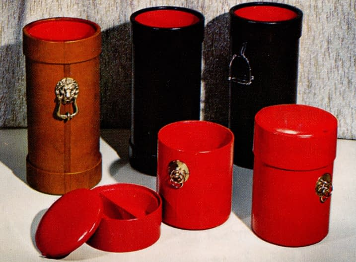 Leather bins, boxes & umbrella stands