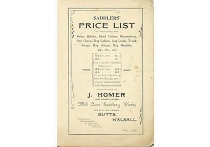 Vintage leather manufacturer catalogue