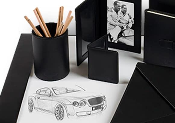 Ettinger bespoke leather goods for Bentley