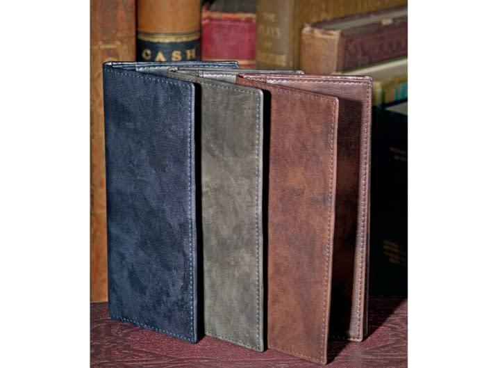 Antique polished leather coat wallets