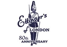 A stylised Royal Guardsman used a historic Ettinger logo
