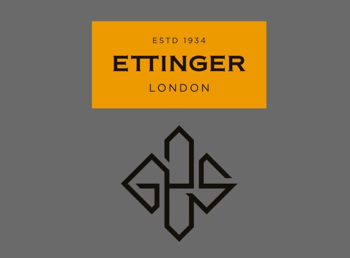 Ettinger's London Tan logo and art deco monogram