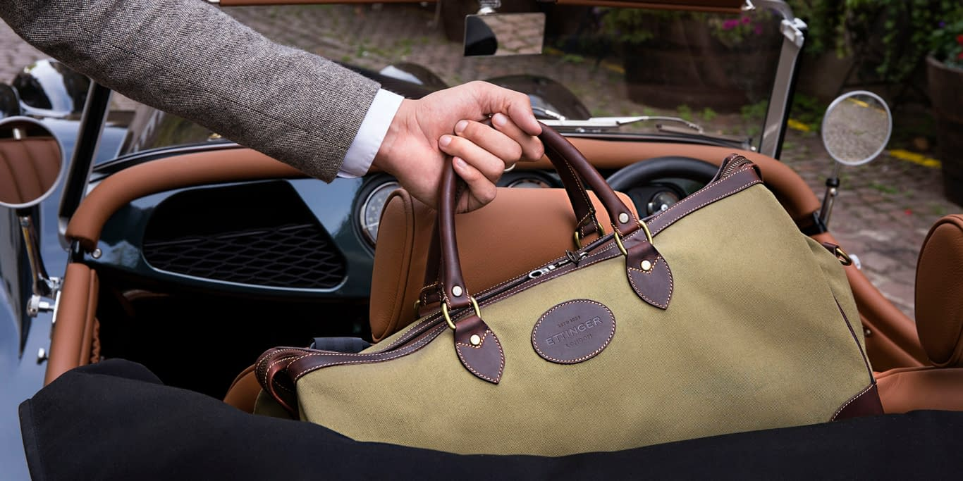 The Hurlingham Olive Travel Bag