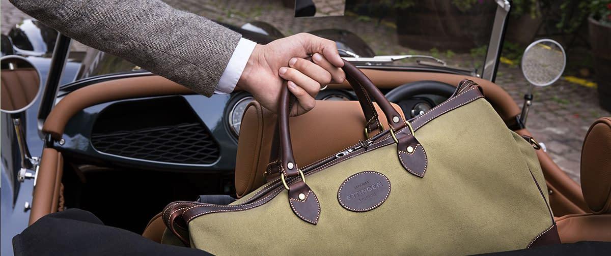 The Hurlingham Olive Travel Bag