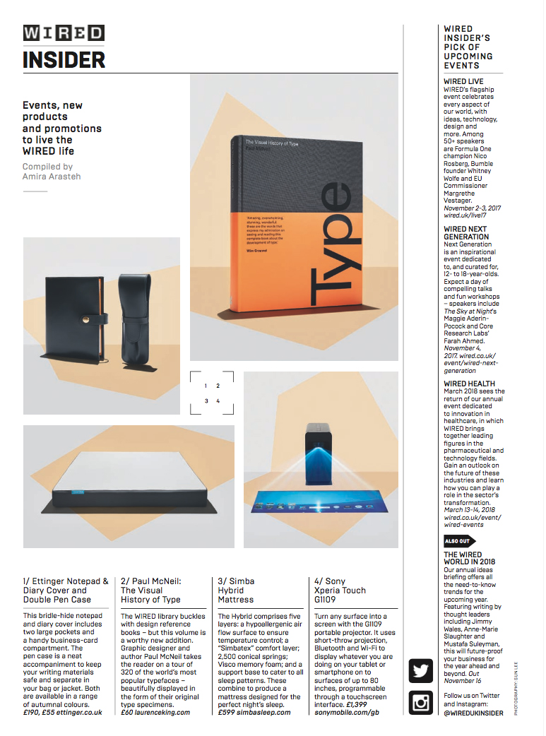 Wired - Dec \'17 | Ettinger London